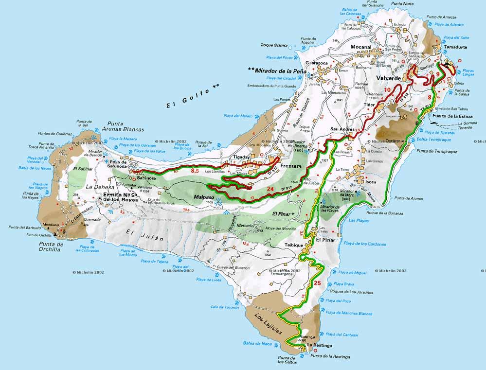 Mapa De El Hierro.Mapa El Hierro