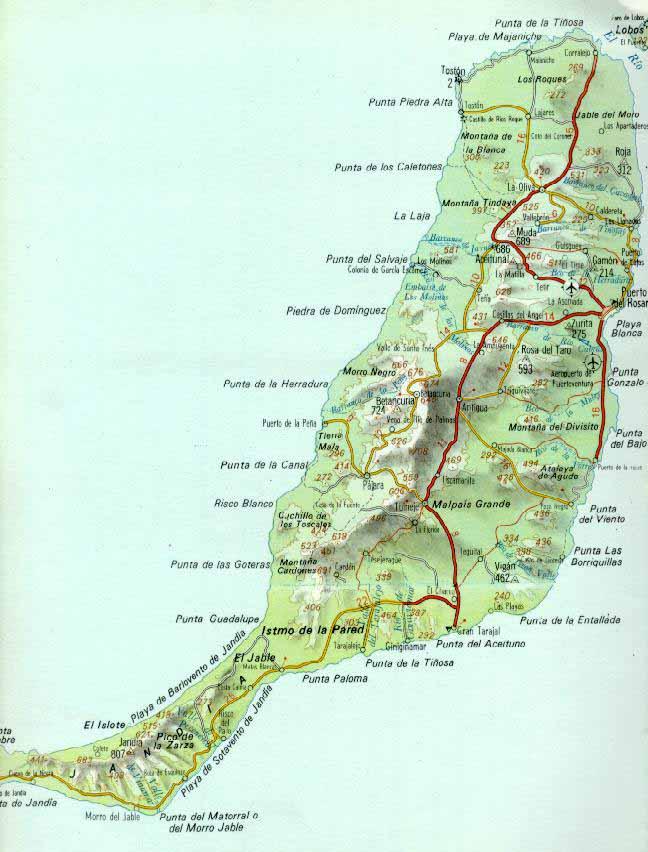 fuerteventura mapa Mapa Fuerteventura fuerteventura mapa